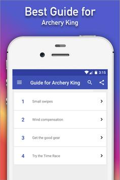 Guide for Archery King tips poster