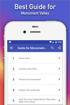 Guide for Monument Valley tips poster
