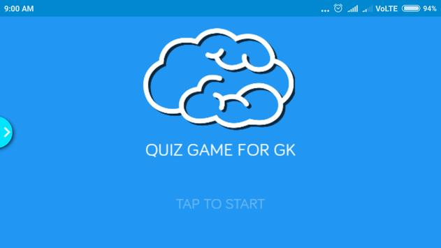 Quiz Game For GK poster