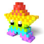 Color by Number 3D - Voxel Pixel Art Coloring Book иконка