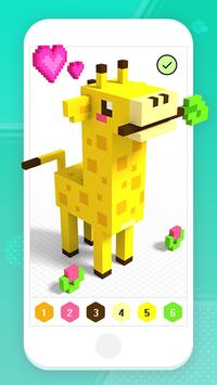 Color by Number 3D - Voxel Pixel Art Coloring Book скриншот 3