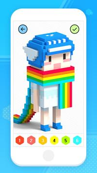 Color by Number 3D - Voxel Pixel Art Coloring Book Poster