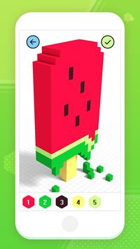 Color by Number 3D - Voxel Pixel Art Coloring Book скриншот 12