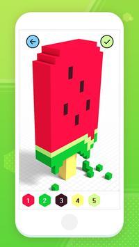 Color by Number 3D - Voxel Pixel Art Coloring Book captura de pantalla 12