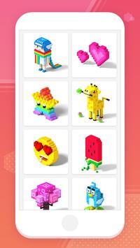 Color by Number 3D - Voxel Pixel Art Coloring Book captura de pantalla 13