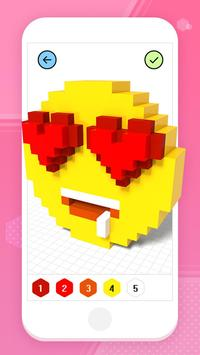 Color by Number 3D - Voxel Pixel Art Coloring Book скриншот 1