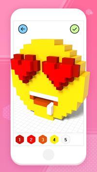Color by Number 3D - Voxel Pixel Art Coloring Book captura de pantalla 1