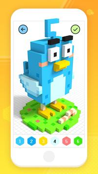 Color by Number 3D - Voxel Pixel Art Coloring Book скриншот 4