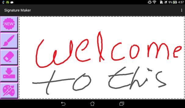 Signature Maker apk screenshot