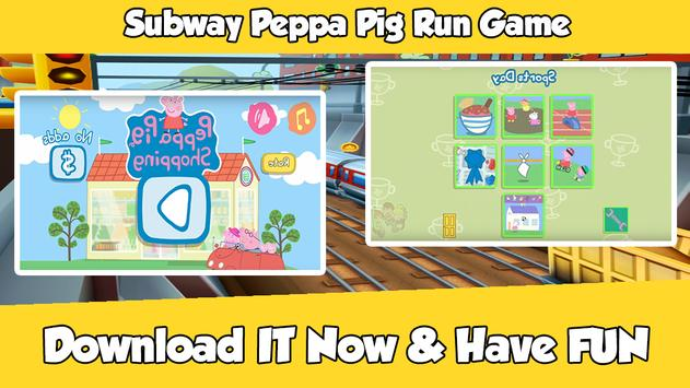 Subway Peppa Run Pig Game poster