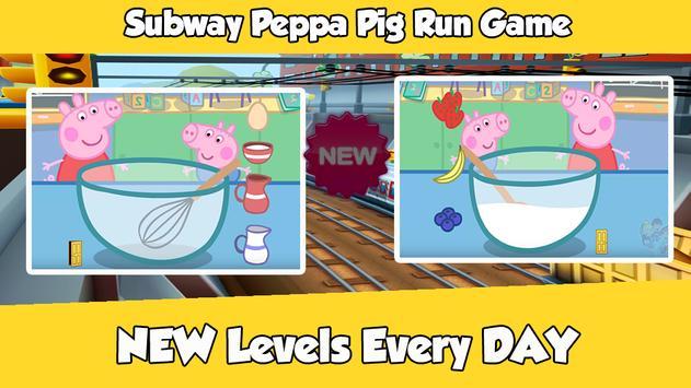 ... Subway Peppa Run Pig Game apk screenshot
