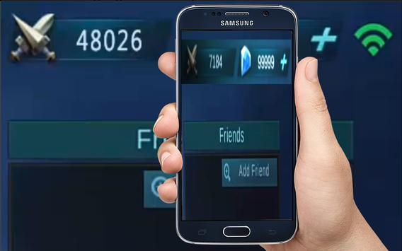 Limited Diamond Mobile Legend Generator Free captura de pantalla de la apk