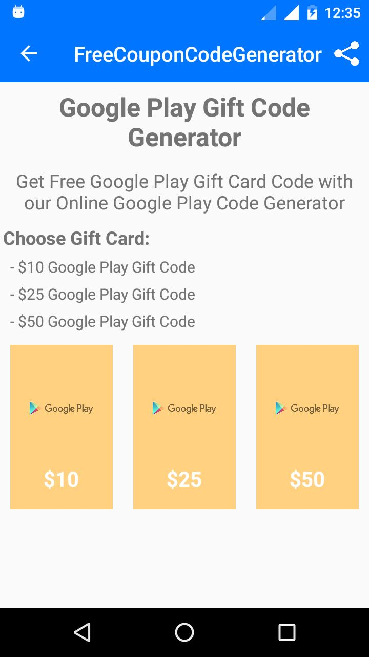 Free Coupon Code Generator for Android - APK Download