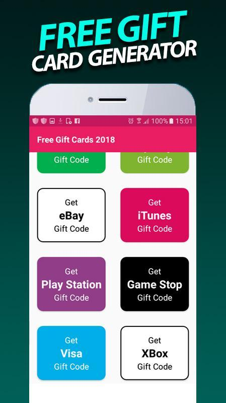 Free Gift Card Generator 2018 For Android Apk Download