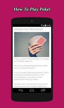 How To Play Poker screenshot 1