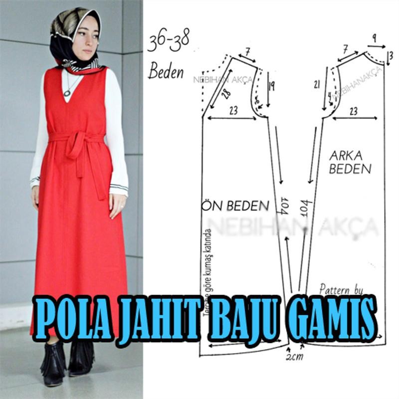 Pola Jahit Baju Gamis For Android Apk Download