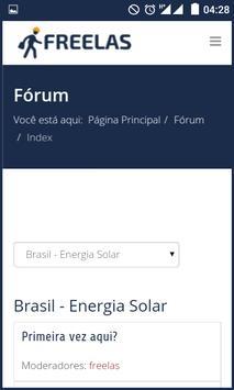 Freelas - Mercado Fotovoltaico apk screenshot