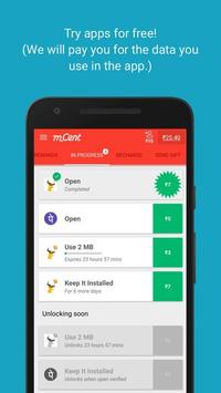 mCent - Free Mobile Recharge screenshot 1