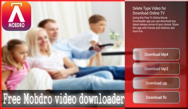Free Mobdro video downloader poster