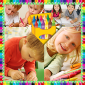 Crayons Photo Collage icon