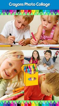 Crayons Photo Collage poster