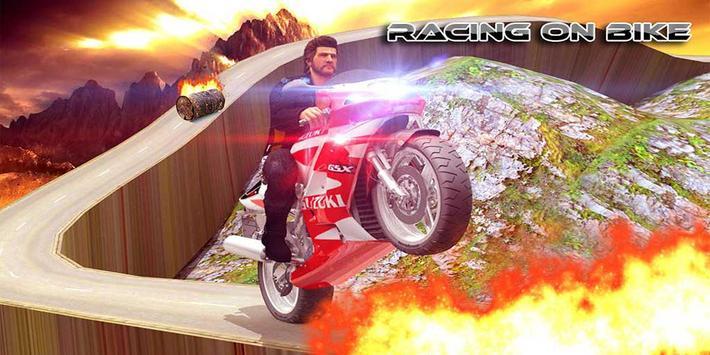 Racing On Bike 3D poster