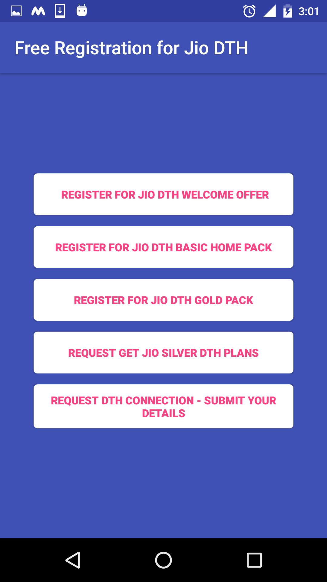 Free Registration for Jio DTH Prank for Android - APK Download