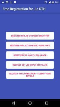 Free Registration for Jio DTH Prank poster