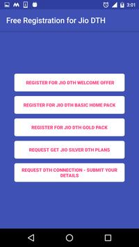 Free Registration for Jio DTH Prank apk screenshot