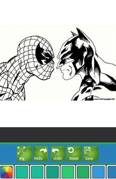 Coloring Book Spider Hero Man screenshot 2