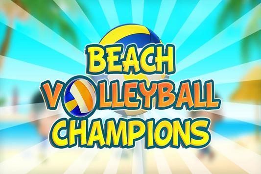 Beach Volleyball Champions poster