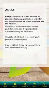 Backyard Embroidery Ltd apk screenshot