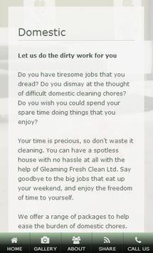 Gleaming Fresh Clean Domestic apk screenshot