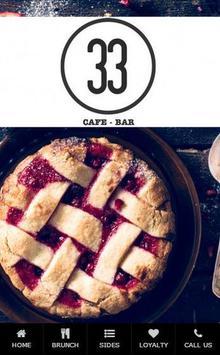 No 33 Cafe poster