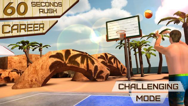 Beach Basketball Shooting King apk screenshot