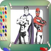 Super Coloring Hero Book icon