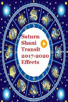 SATURN (SHANI) TRANSIT 2017- 2020 EFFECTS poster