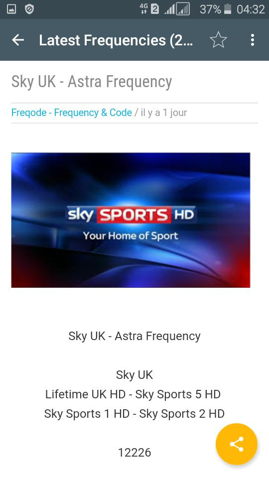 Canal sport frequency