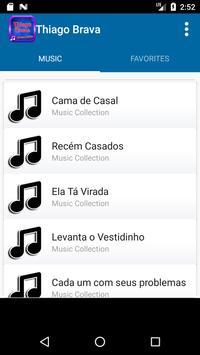 Thiago Brava Music Lyric apk screenshot