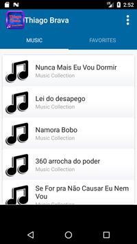 Thiago Brava Music Lyric poster