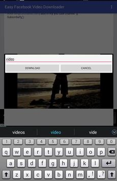Easy Facebook Video Downloader apk screenshot