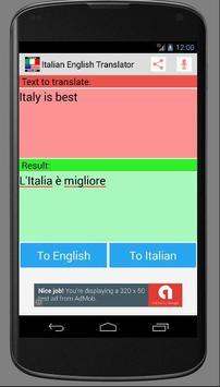 Italian English New Translator apk screenshot