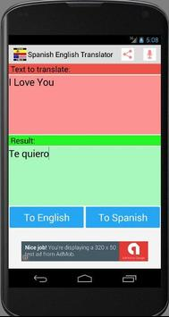 Spanish English New Translator apk screenshot