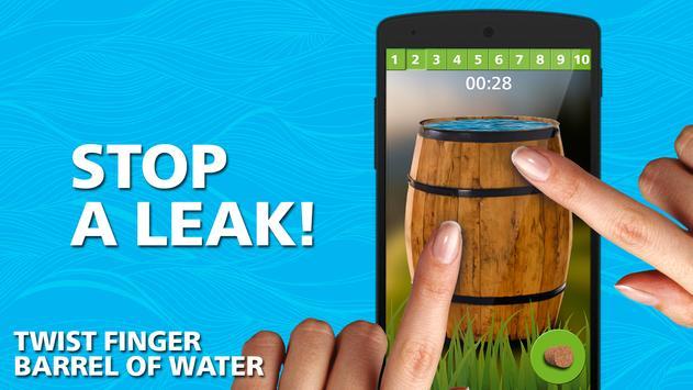 Twist finger. barrel of water poster