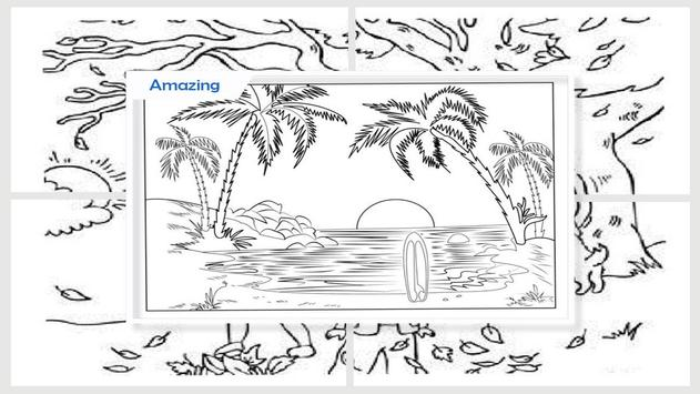 Easy Landscape Coloring Pages screenshot 4