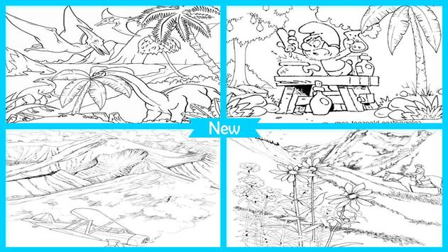 Easy Landscape Coloring Pages poster