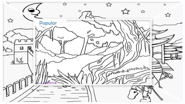 Easy Landscape Coloring Pages screenshot 3