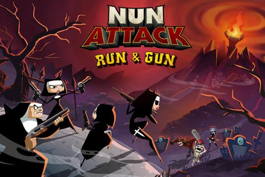 Nun Attack: Run & Gun ảnh chụp màn hình 5