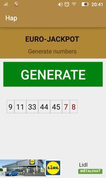 Hap Euro-jackpot poster