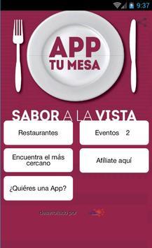 AppTuMesa CANIRAC Puebla poster